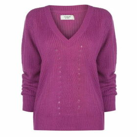 JDY Jacqueline Baskille V Neck Jumper Womens