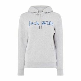 Jack Wills Womens Hartford Hoody - Grey Marl