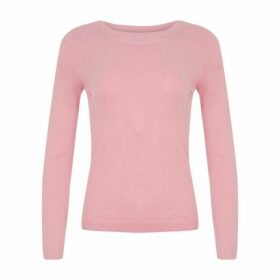 Sugar Pink Slash Neck Jumper