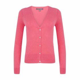Pink Pointelle Detail Cardigan