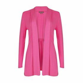 Pink Edge to Edge Jersey Cardigan