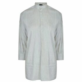 JOSEPH Phila Slub Stripe Shirt - Off White/Black