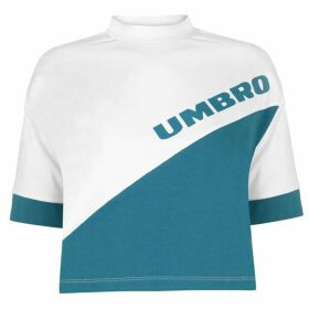 Umbro Umbro Womens Temp Crop Top - White/Ocean