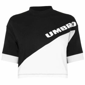 Umbro Umbro Womens Temp Crop Top - Black/White