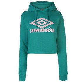 Umbro Umbro Crop Logo Hoodie Ladies - Green