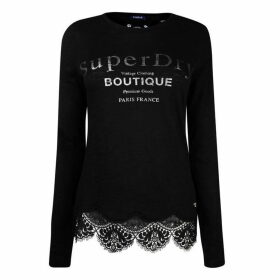 Superdry Superdry Womens Annabeth Lace Top - EclipseNavy 98T