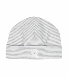 Teddy Striped Beanie Hat