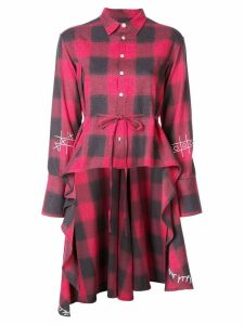 Haculla plaid asymmetric shirt - Red