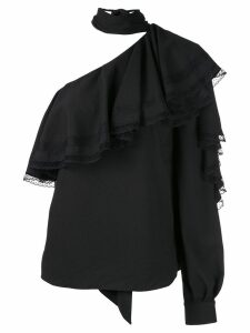 Ingie Paris ruffled one-shoulder blouse - Black