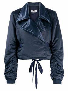 Mm6 Maison Margiela padded cropped jacket - Blue