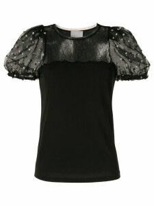 Ingie Paris puff-sleeve blouse - Black