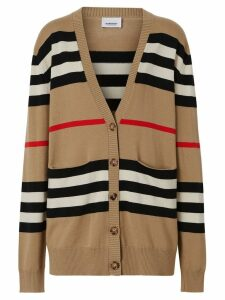 Burberry striped cardigan - NEUTRALS