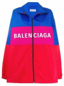 Balenciaga zip-up logo jacket - Red