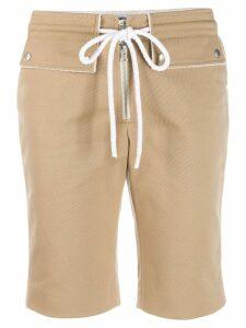 Courrèges drawstring waist shorts - Neutrals