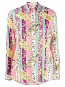 Etro striped paisley shirt - Pink
