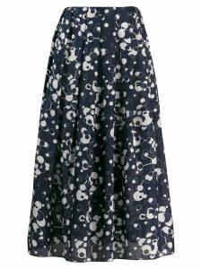 Katharine Hamnett London printed pleated midi skirt - Blue