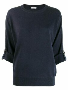 Brunello Cucinelli buckled cuffed jumper - Blue