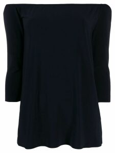 Norma Kamali off-the-shoulder blouse - Blue