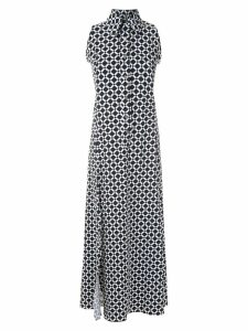 Amir Slama sleeveless diamond shirt dress - Black