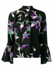 La Doublej x Mantero floral print shirt - Black