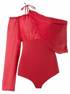 Amir Slama drape one shoulder body - Red