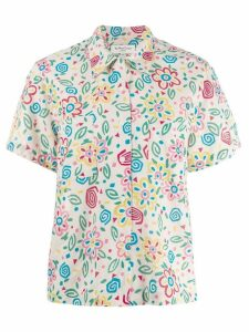 YMC floral print shirt - Neutrals