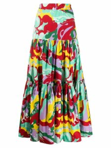 La Doublej tiered maxi skirt - Green