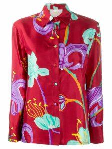La Doublej x Mantero Boy floral print shirt - Red