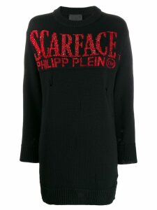 Philipp Plein Scarface distressed jumper - Black