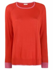 Etro contrast trim jumper - Red