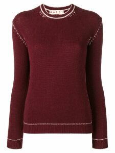 Marni knitted sweatshirt - Red