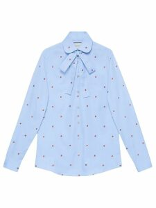 Gucci Shirt with strawberry fil coupé - Blue