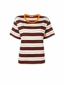 Marni striped pattern T-shirt - Red