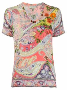 Etro paisley print T-shirt - Pink