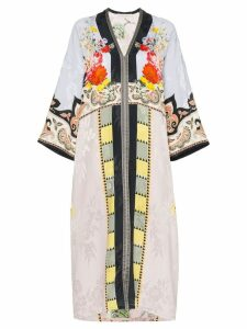 Etro floral print patchwork kaftan dress - Multicoloured