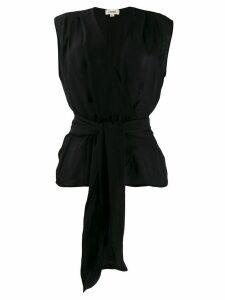 L'Agence tie-waist blouse - Black