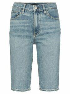 3x1 Paros Knee-Length Denim Shorts - Blue