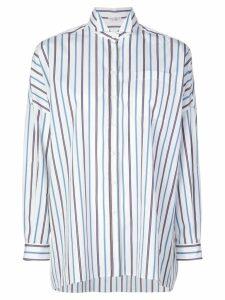 Brunello Cucinelli oversized striped shirt - White