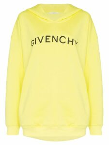 Givenchy logo print hoodie - Yellow