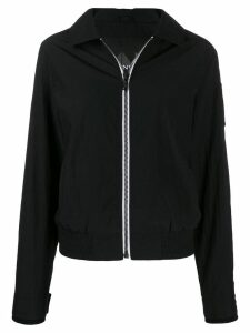 Moose Knuckles contrasting zip bomber jacket - Black