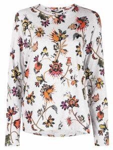 Derek Lam floral print T-shirt - Grey
