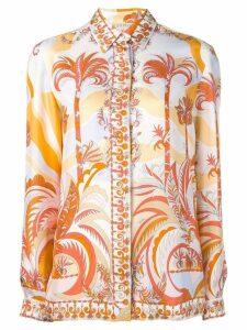 Emilio Pucci Acapulco Piazzato Print Silk Shirt - White