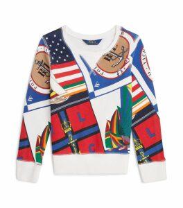 Sailing Flags Print Sweatshirt
