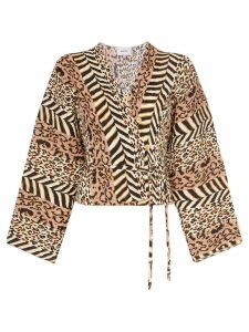 Nanushka Ehara animal-print blouse - Brown