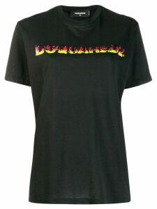 Dsquared2 Flames logo print T-shirt - Black