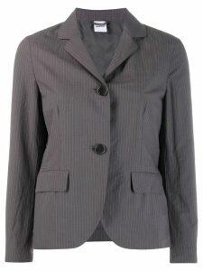Aspesi pinstriped cropped jacket - Grey