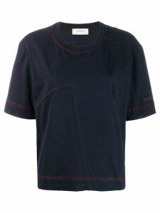 Sportmax contrast stitch T-shirt - Blue