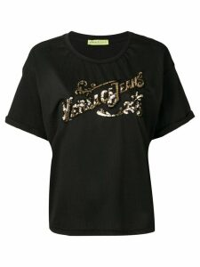 Versace Jeans Couture sequin logo T-shirt - Black
