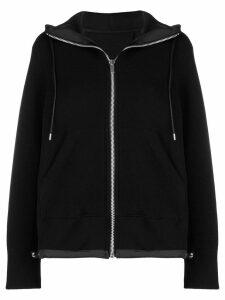 Sacai zip fornt hoodie - Black