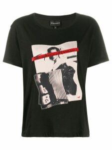 Emporio Armani printed T-shirt - Black
